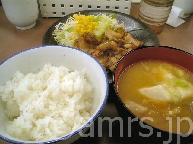 豚生姜焼き定食(豚汁変更) by 松屋