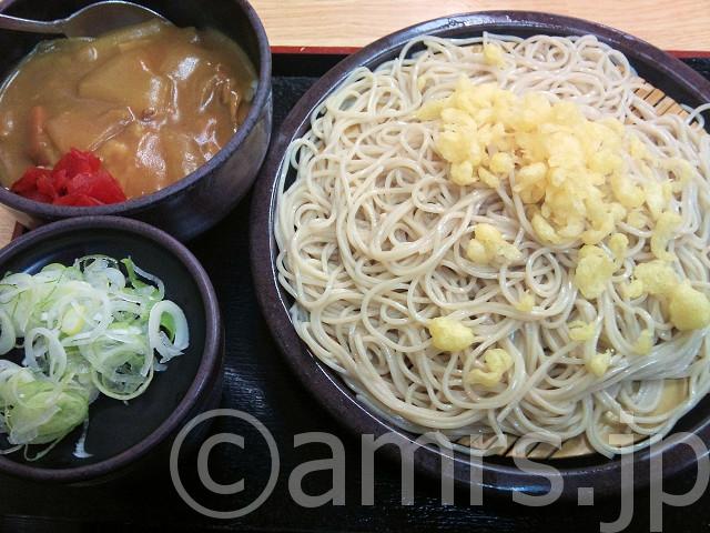 朝定食A(カレー) 、蕎麦大盛@ゆで太郎