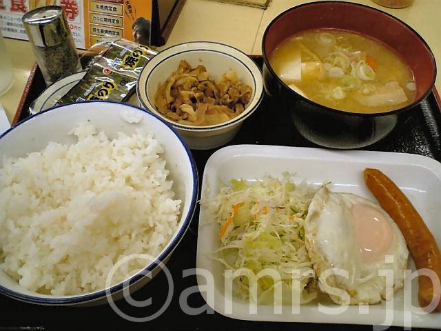 ソーセージエッグ定食 by 松屋