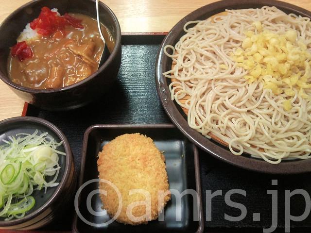 朝定食A(カレー)、コロッケ@ゆで太郎