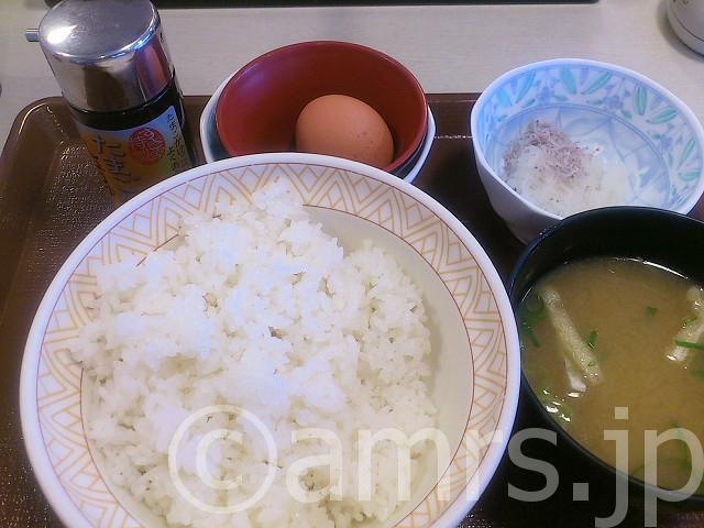 たまごかけごはん朝食@すき家