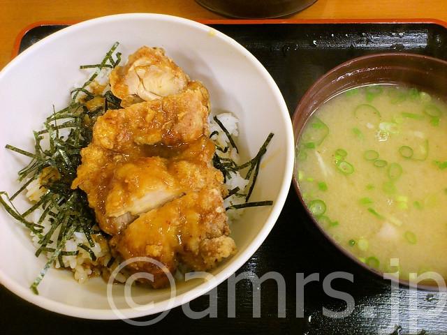若鶏竜田丼豚汁付@Sガスト