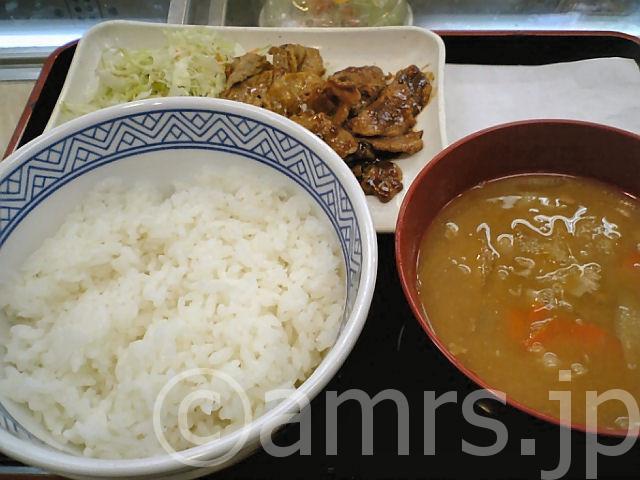 豚みそ炒め定食 by 吉野家