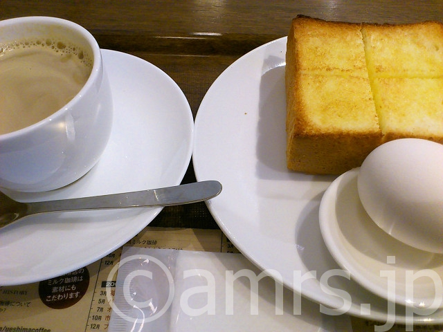 Dセット(ゆで卵&厚切りバタートースト)@上島珈琲店