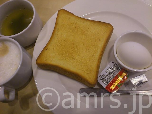 トースト&ゆで卵セット@ガスト