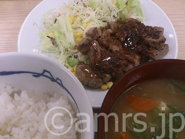トンテキ定食,豚汁変更@松屋