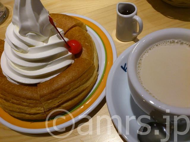 ミルクコーヒー、ミニシロノワール@コメダ珈琲店