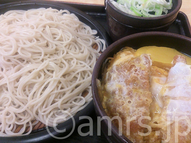ミニカツ丼セット、そば大盛@ゆで太郎
