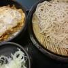 ミニカツ丼セット@ゆで太郎
