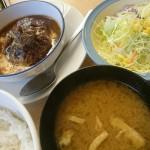 ブラウンソースハンバーグ定食@松屋