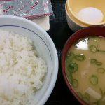 こだわり卵朝定食(とん汁変更)@なか卯