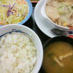 鶏と白菜のクリームシチュー定食@松屋