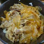牛丼、すしやのシャリカレーパン@くら寿司