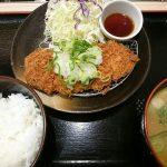 おろしロースかつ定食(並)+豚汁@松乃家