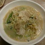 1日分の野菜のベジ塩タンメン(ほうれん草麺変更)@ガスト