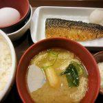 たまかけさば朝食@すき家