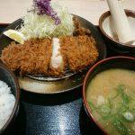 厚切りロースカツ定食、豚汁@松乃家