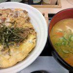 プレミアム牛とじ丼豚汁セット@松屋