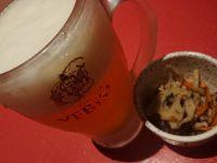 秋葉原個室居酒屋 柚柚~yuyu~ 秋葉原駅前店 ビール お通し