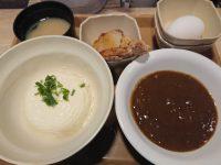 お手軽朝食定食 ハーフ竜田 自家製寄せ 豆腐 変更 カレールー Sガスト