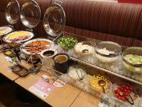ガスト 新橋店 モーニング ビュッフェ サラダ メイン