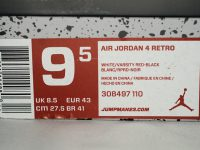 AIR JORDAN 4 RETRO FIRERED 箱タグ BOX TAG
