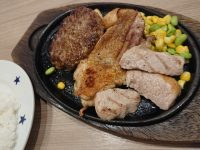 日替り 土曜日 ハンバーグ チキン 塩ダレ ポーク ミニサラダ セット ステーキのどん 日替りメニュー