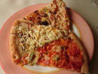 オリーブの丘 多摩ニュータウン店@東京都多摩市 ピザ ピッツァ キャラメルバナナ、お好み焼き、ナポリタン