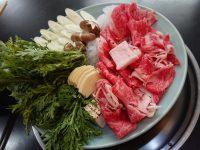 肉の山本@東京都八王子市 すき焼き定食 3人前