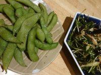 スパ串酒場 うまいける@東京都大田区 枝豆 豆苗ときくらげのサラダ