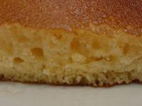 パンケーキ&ゆで卵セット@ガスト 断面