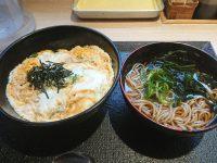 玉子丼ミニそばセット@松乃家/松のや 玉子丼ミニそばセット 松乃家 松のや 朝定