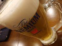 天ぷら さいとう 末広町店@東京都千代田区 ビール プレミアムモルツ プレモル