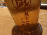 ラーメン凪 豚王 新宿ゴールデン街店 新館@東京都新宿区 煮干し嫌いの方はご遠慮くださいコップ