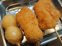立ち呑み串カツ田中 新橋店@東京都港区 うずら串 鶏もも串