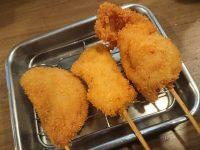 立ち呑み串カツ田中 新橋店@東京都港区 ハムカツ 鶏もも串