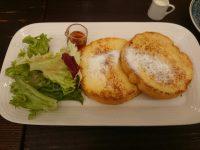 Café La MILLE(カフェラミル) 新橋店@東京都港区 フレンチトーストセット フレンチトースト