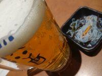博多満月 秋葉原店@東京都千代田区 ビール お通し ホワイトベルグ