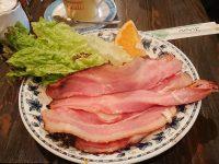 喫茶Y (キッサワイ)@大阪府大阪市 モーニング ベーコンエッグ オレンジ付き