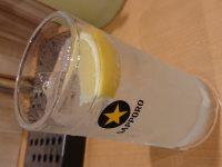 ふれあい酒場 ほていちゃん 八王子店@東京都八王子市 サッポロ氷彩サワー飲み放題 コップ 氷 カットレモン