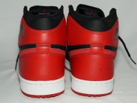AIR JORDAN 1 RETRO BLACK / VARSITY RED 黒赤(2001) Heel かかと
