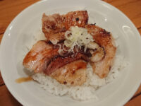 麺屋はやぶさ@東京都立川市 ミニ炙りチャーシュー丼(麺を頼んだかたのみ注文可)