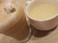 パンケーキ&スクランブルエッグセット@ガスト ドリンク(アイスカプチーノ)とスープ