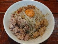 立川マシマシ 試作館@たま館(東京都立川市) 汁なし麺(胡椒)