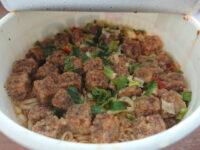 カップヌードル ビッグ 謎肉祭 肉盛りジューシィしょうゆ味@日清食品 年に1度のCAP NOODLE 謎肉祭 完成