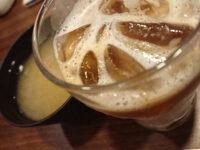 自家製フレンチトーストモーニング@ジョナサン スープ 味噌汁 アイスカフェラテ