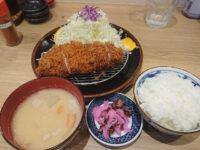 とんかつ檍 (アオキ)のカレー屋 いっぺこっぺ 大門店@東京都港区 ロースカツ定食 お昼限定
