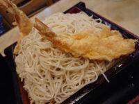 朝日屋@東京都大田区 大盛り蕎麦 海老天付き