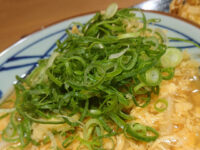 玉子あんかけセット(かしわ天・野菜かき揚げ)@丸亀製麺 ネギ
