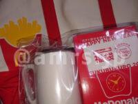 ギガビッグマック・マクドナルドの福袋2021@マクドナルド トートバッグ スクエアポーチ 赤色 マグカップ ポテトクロック